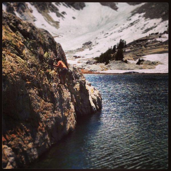 Rock Climbing Photo: cascade lake traverse...