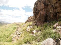 Rock Climbing Photo: Kegan sending....