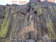 Rock Climbing Photo: The remaining routes.  (As well as the new one).  ...