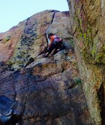 Rock Climbing Photo: Mary Harlan heading up the aesthetic crack of Sasa...