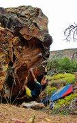 Rock Climbing Photo: Start beta of Aphelion.