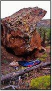 Rock Climbing Photo: Aphelion problem beta.