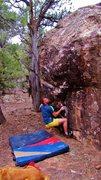Rock Climbing Photo: Start beta of Silent Gossamer.