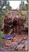 Rock Climbing Photo: Silent Gossamer problem beta.