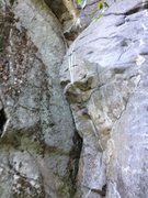 Rock Climbing Photo: Not the best picture of the route...but it gives a...