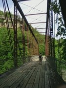 Rock Climbing Photo: O&W Bridge and O&W Wall in background, Big South F...