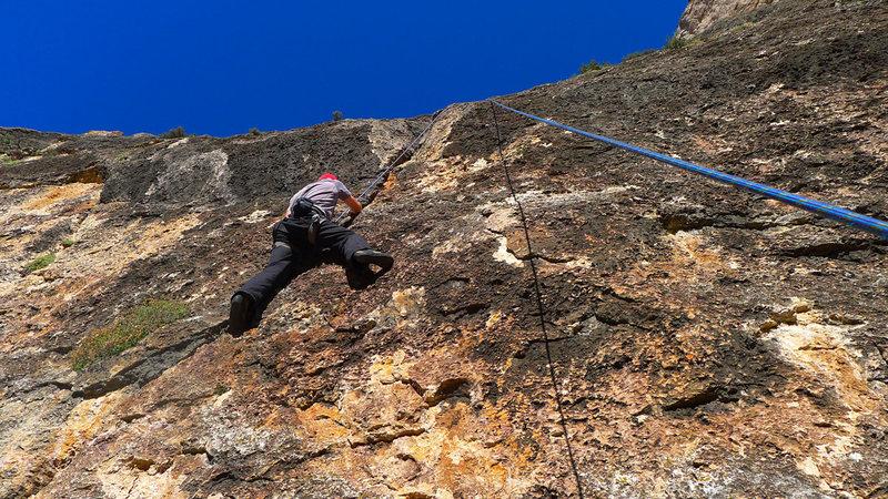 Climber on Critter Crack.