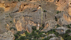 Rock Climbing Photo: Dotted yellow line is Chief Joseph. The arrow is p...