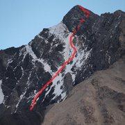 Rock Climbing Photo: borah n face route 9/6/2014