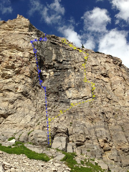 Rock Climbing Photo: Night's Watch left, White Walker right