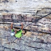 Rock Climbing Photo: Getting horizontal on Falled.