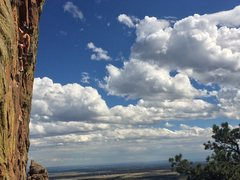 Rock Climbing Photo: Just finished with the bolting, and now Bret is br...