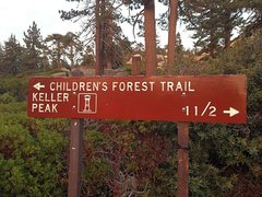 Rock Climbing Photo: The sign at the tee intersection, Keller Peak