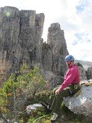 Rock Climbing Photo: Rodger, atop Torre Quarta Alta.
