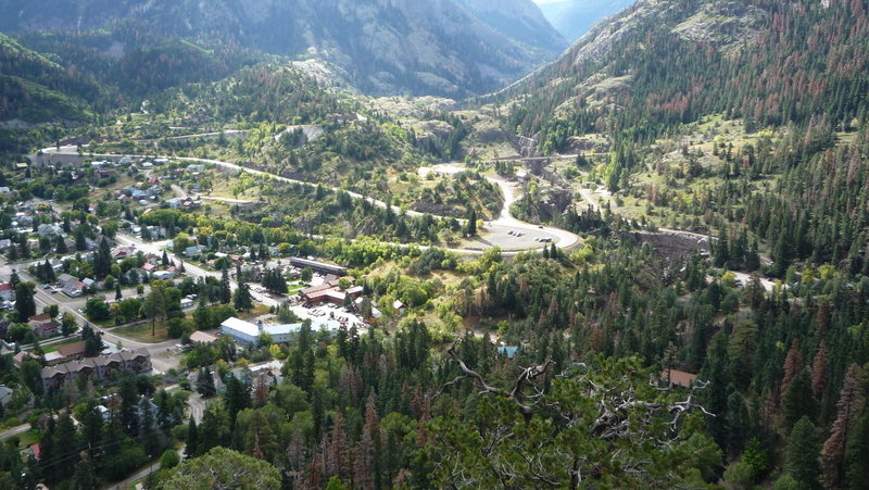Ouray town views.