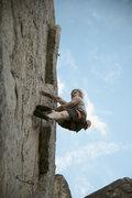 Rock Climbing Photo: jeff on the lieback