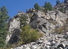 """Rock Climbing Photo: The right side of """"The Right Side"""" from ..."""