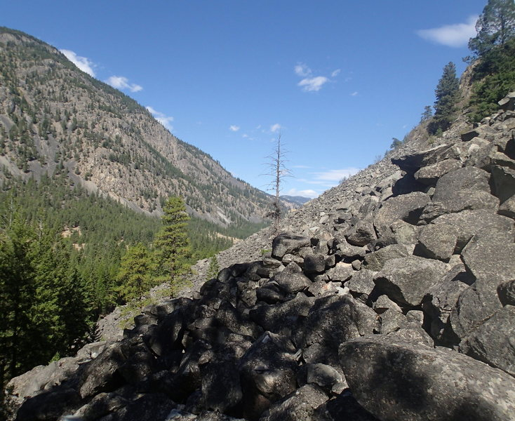 Boulder field approach from the far right.