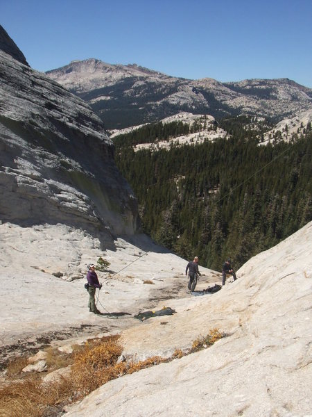 Rock Climbing Photo: Looking down the Wind Tunnel - DAFF Dome is on the...
