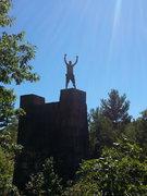 Rock Climbing Photo: on top of a bridge trestle