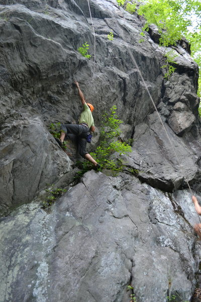 Rock Climbing Photo: Me reaching for the invisible crimp.