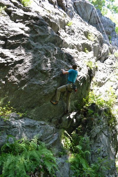 Rock Climbing Photo: Jim on the start.