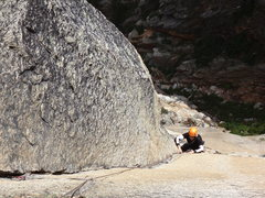 Rock Climbing Photo: Pitch three.