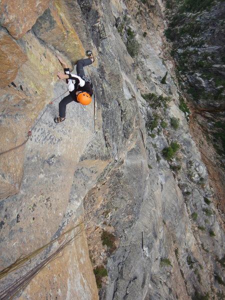 Rock Climbing Photo: Pitch seven.