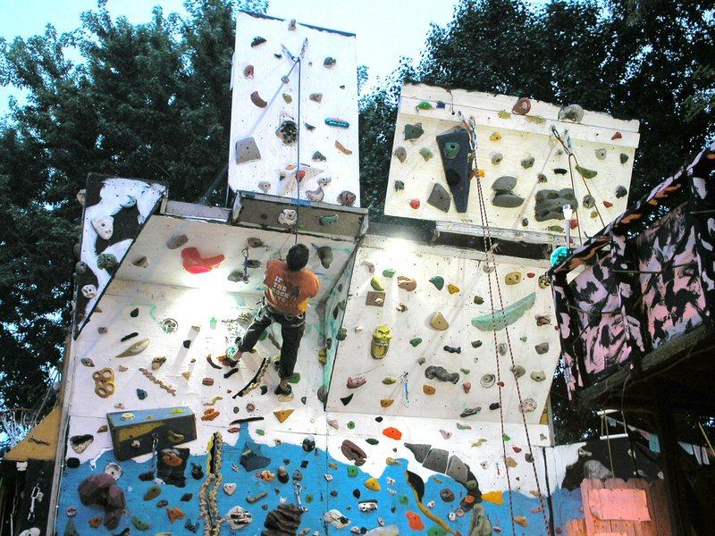 Rock Climbing Photo: night climbs on home wall.