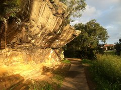 Rock Climbing Photo: One of the main boulders at Queens Park