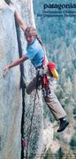 Rock Climbing Photo: Patagonia ad (1983) featuring Lynn Hill on Insomni...