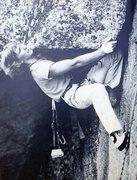Rock Climbing Photo: Frank Vernoy on The Bridge of Khazad-Dûm (5.11d),...
