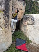 Rock Climbing Photo: Jeffy on an unnamed V5, Keller Peak