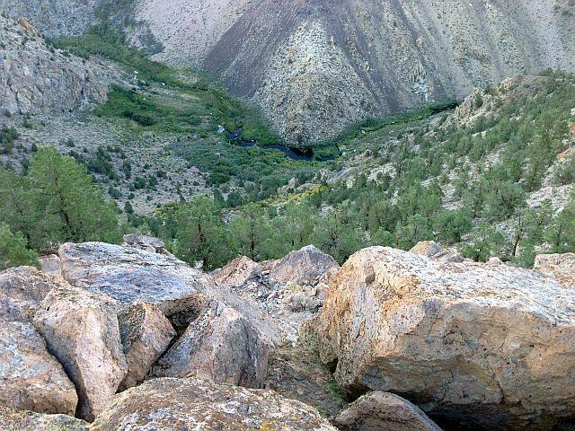Upper Owens River from the rim, Sierra Eastside