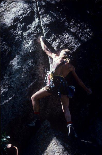 Rock Climbing Photo: Short shorts, hot socks
