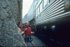Rock Climbing Photo: the train