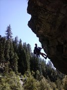 Rock Climbing Photo: former tradster turned rap bolter. shame on him!