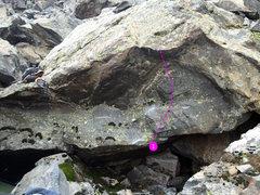 Rock Climbing Photo: 1 - A River Runs Through It (V3).