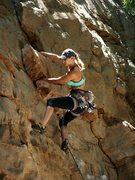 Rock Climbing Photo: Another unknown in Yellow Bluff. I believe this wa...