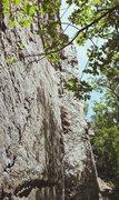 Rock Climbing Photo: Stephen Gill near the top of Italian Arette (5.6)