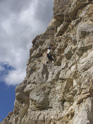 Rock Climbing Photo: Mica Burns experiencing Difficulty while on No Dif...