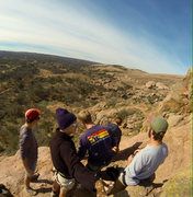 Rock Climbing Photo: The crew on top of Turkey peak at enchanted Rock.