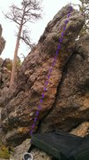 Rock Climbing Photo: Fantastic route for area - needs cleaning as of th...