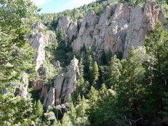 Rock Climbing Photo: Estrellita through the trees
