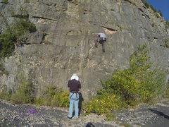 Rock Climbing Photo: The first rope (purple) is Oligo Element