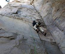Rock Climbing Photo: Kurt on the start