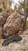 Rock Climbing Photo: Beta photo for Autumnal Dynamics
