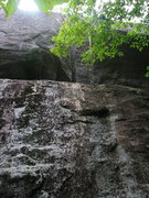 Rock Climbing Photo: Anybody know if this is a route?  My Handren Guide...