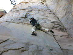 Rock Climbing Photo: Heading into the micro-dihedral