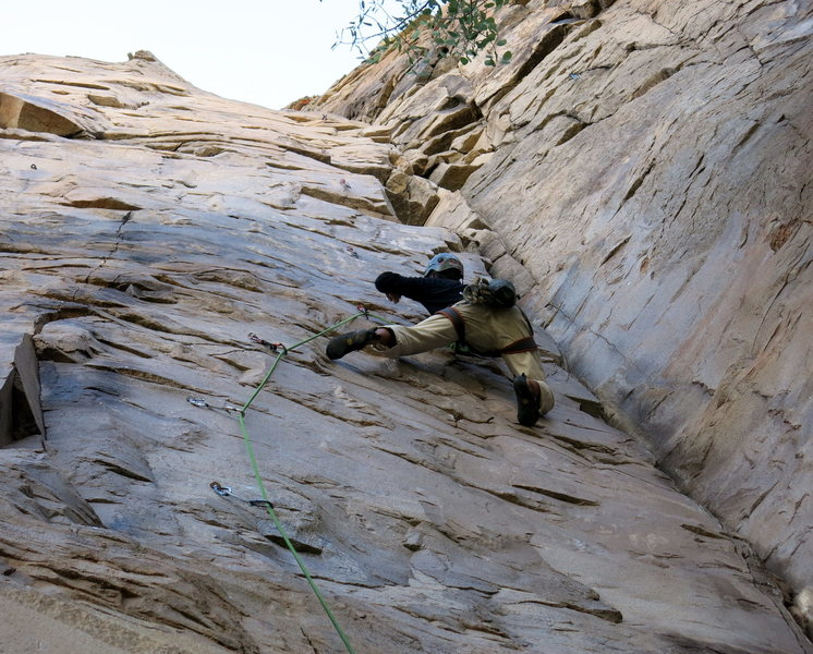 Rock Climbing Photo: Stay on the face!